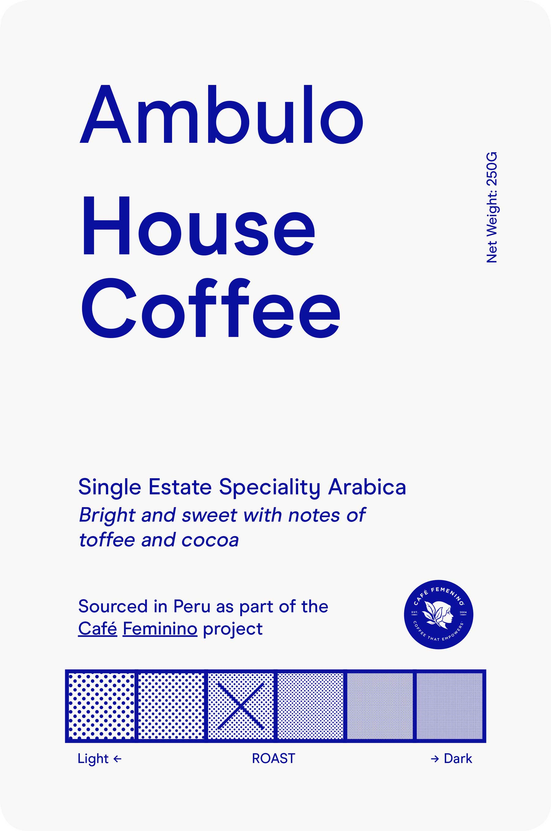 Ambulo coffee label