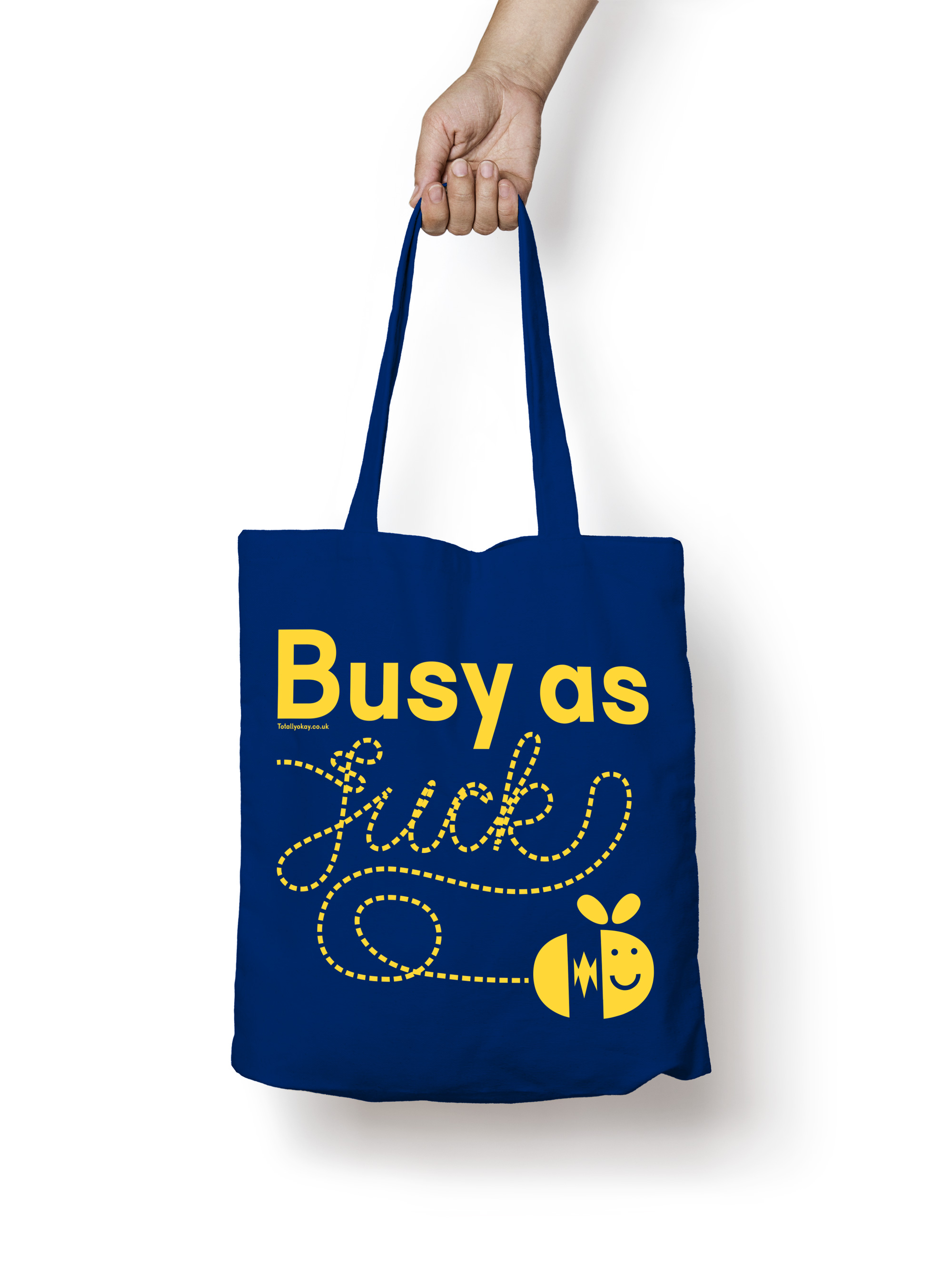 Busy As tote bag design