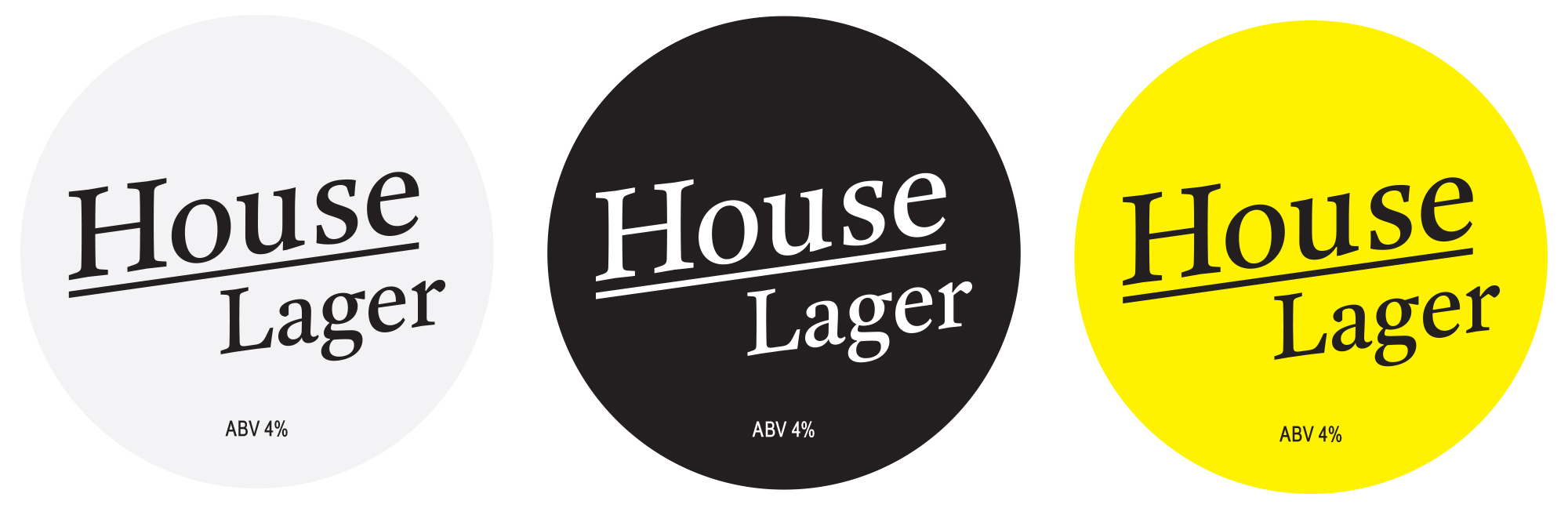 Picture House Social house lager labels